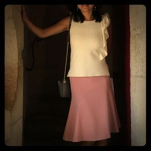 Ann Taylor sleeveless side ruched top